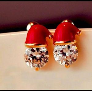 Crystal Santa Hat Earrings